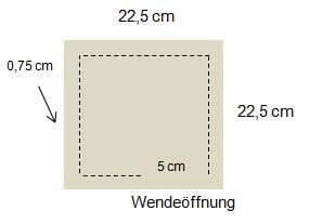 Skizze_Kirschkernkissen_2 Kammern