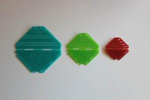 """3 verschiedene Größen: Kanzashi-Schablone für die """"spitze Blüte"""""""