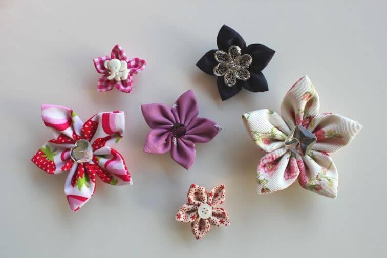 blumen aus stoff selber basteln, kanzashi-blumen selber machen | myneedleworks, Design ideen